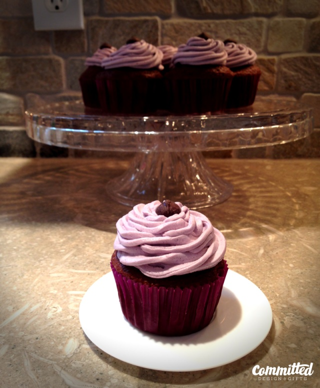 Chocolate cupcake with vanilla buttercream