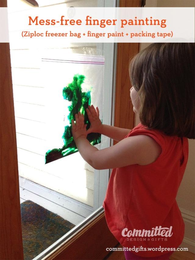 Finger painting for toddler