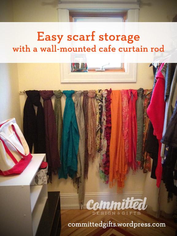 Scarf storage solution