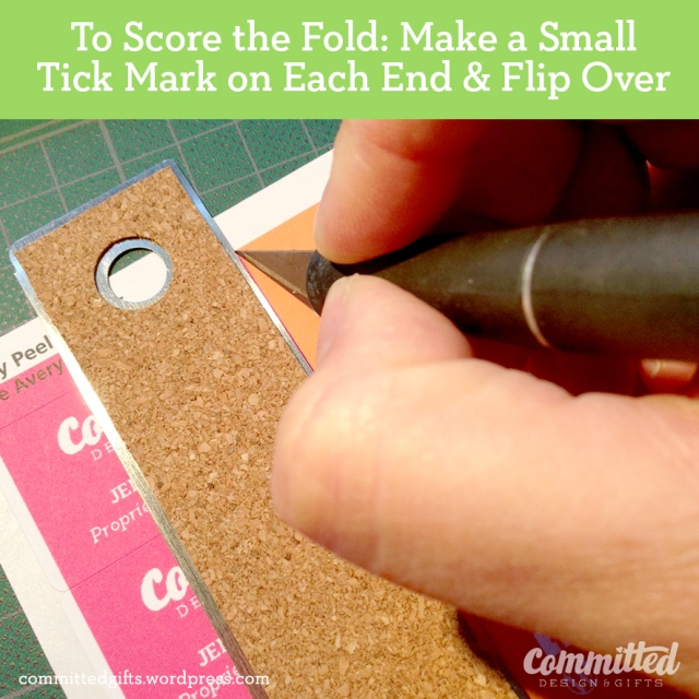 Mark the fold.