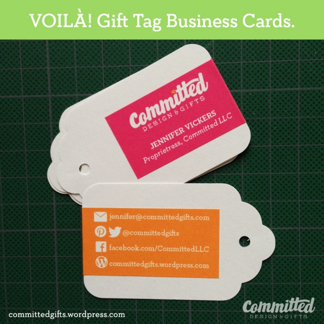 Gift tag business cards.
