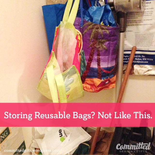 Do not do: store grocery bags on hooks