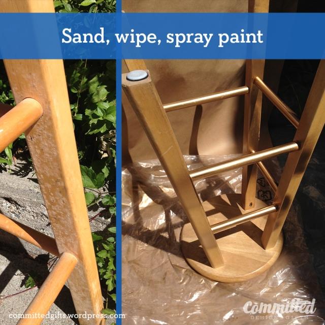Spray paint.