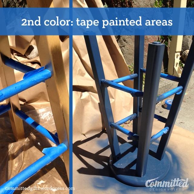 Tape, then paint.