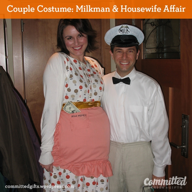 Couple costume: milkman and bored housewife