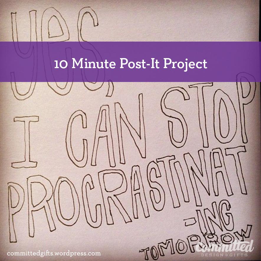 I can stop procrastinating tomorrow