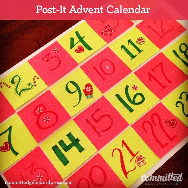 Post-It Advent Calendar