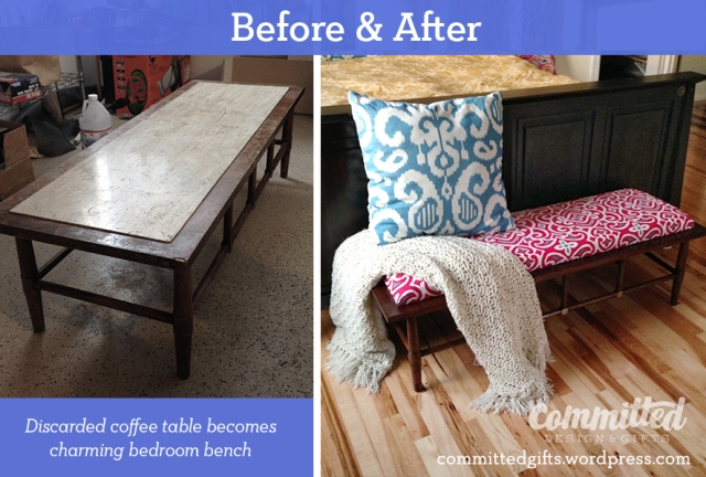 Bench makeover: before & after