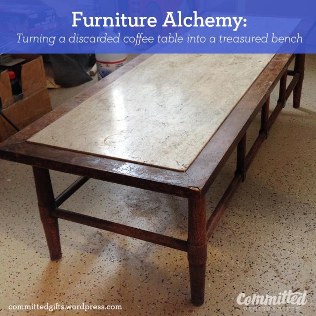 Furniture makeover: bench