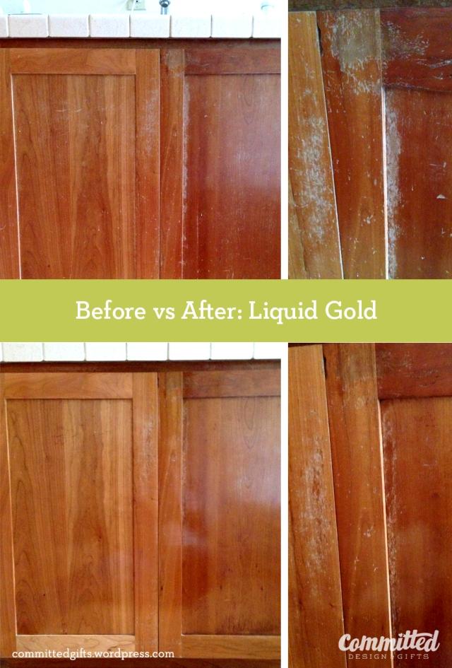 Liquid Gold wood oil.