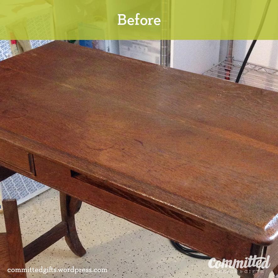 Before: desk makeover