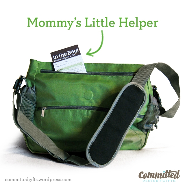 Diaper bag pack list