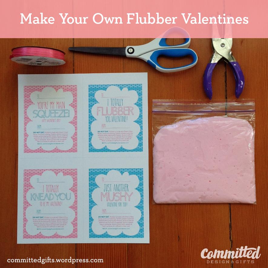 Printable labels for flubber Valentines