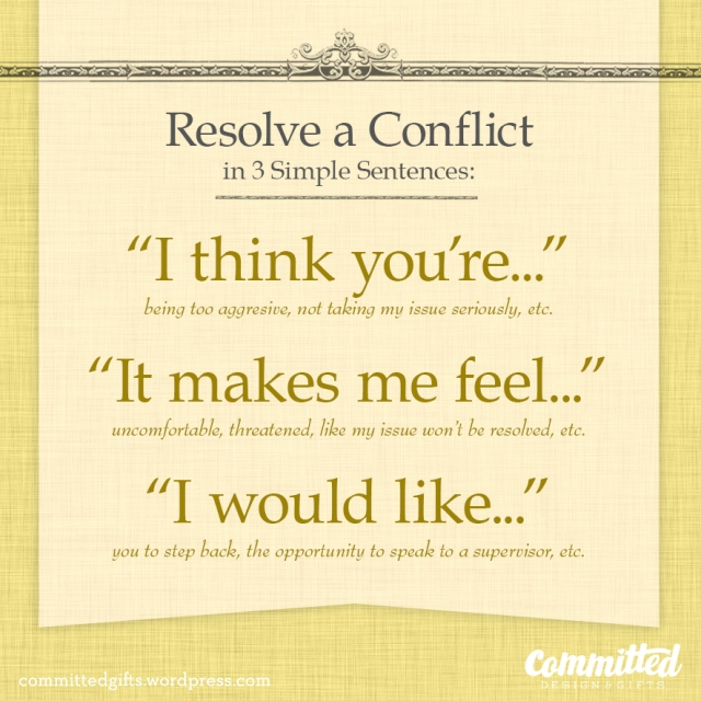 Resolve a conflict