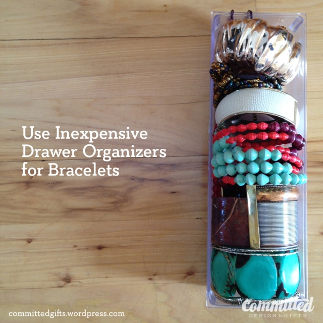 Inexpensive bracelet storage