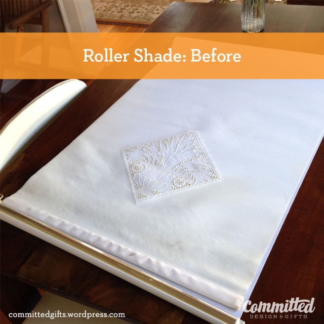 Roller shade DIY: before