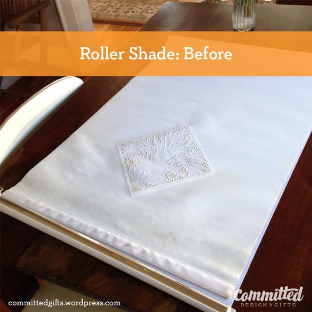 Roller shade DIY: before