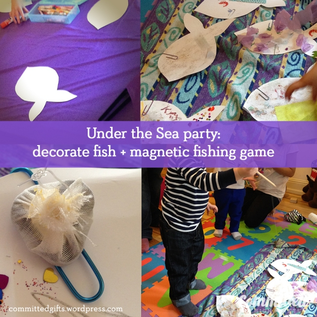 Makeover monday an under the sea 3rd birthday party for Easy fishing games