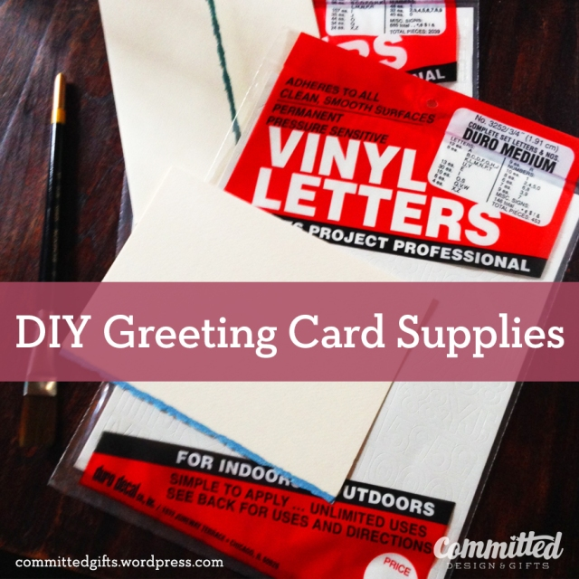 DIY Greeting Card Supplies