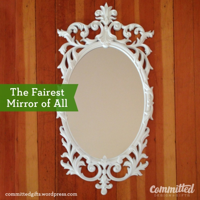 Spray painted ornate mirror frame