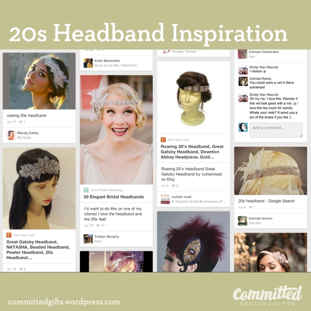 20s DIY Headband Inspiration