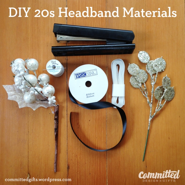 Materials to make your own headband.