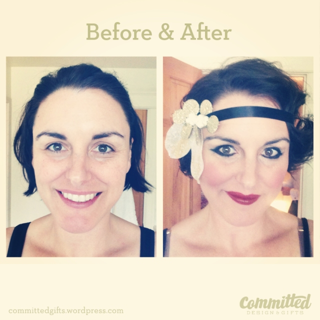 Before and After: 20s Flapper Headband