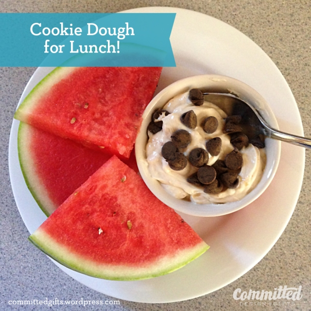 Egg-free, gluten-free cookie dough treat #recipe.